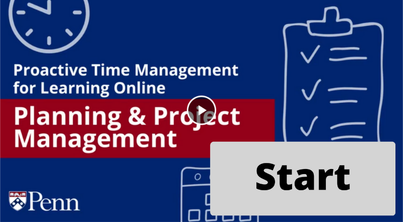 Start Button for Planning and Project Management
