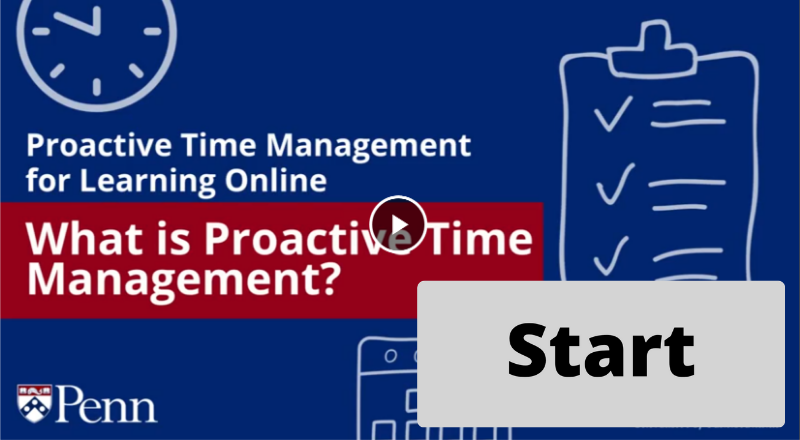 Button to Start Proactive Time Management