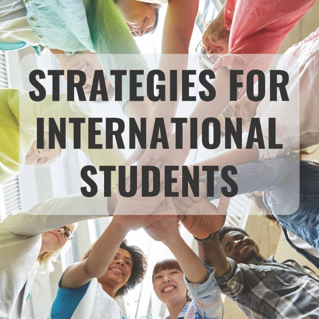 Strategies for International Students Button