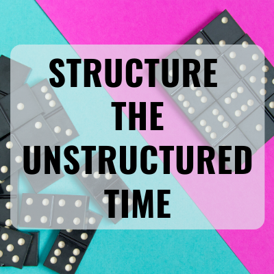 Structure the Unstructured Time with image of dominos
