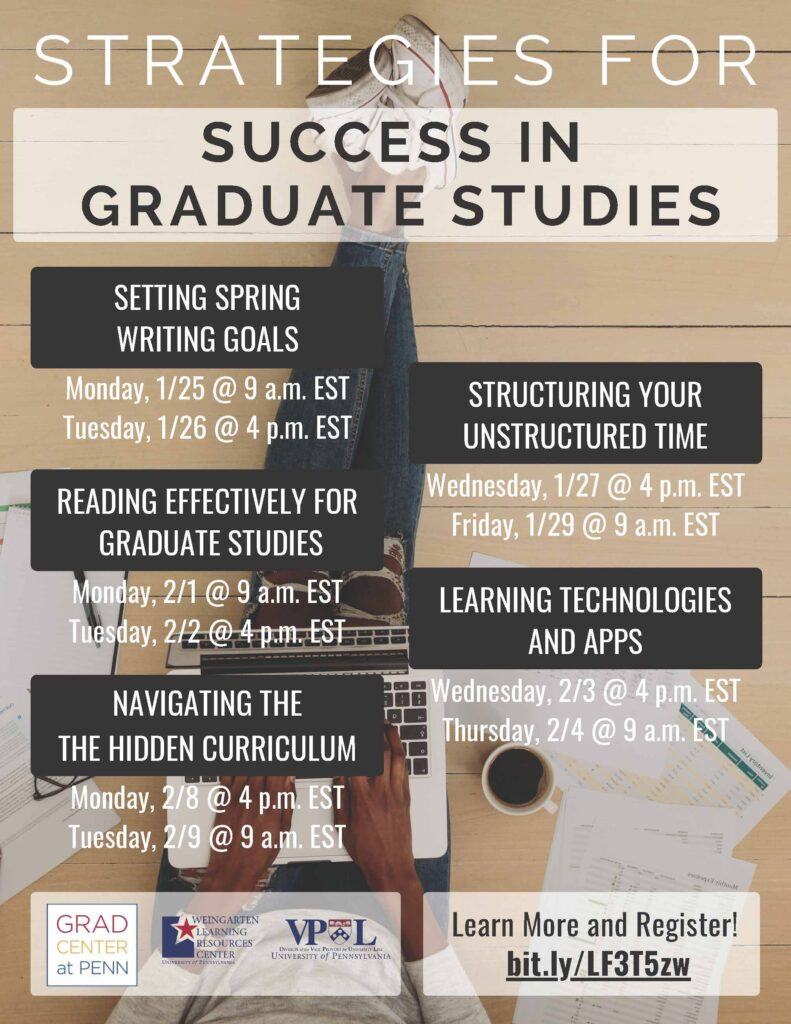 Strategies for Success in Graduate Studies Flyer