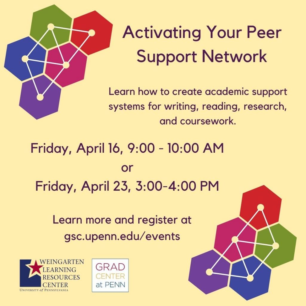 Flyer for Activating Your Peer Support Network